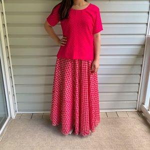 Hot Pink Indian/Pakistani Lengha Choli